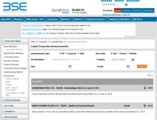 corporates.bseindia.com screenshot