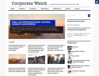 corporatewatch.org.uk screenshot