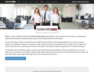 corporatewearwest.com.au screenshot