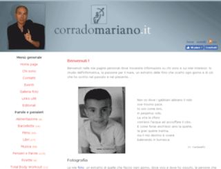 corradomariano.it screenshot