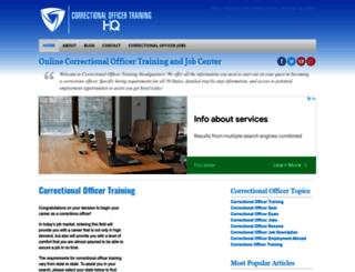 correctionalofficertraininghq.com screenshot