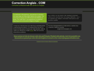 correctionanglais.com screenshot