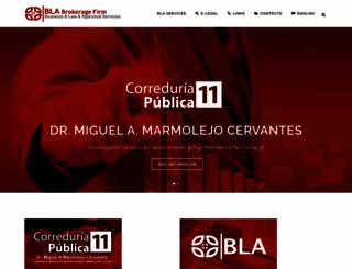 correduria11ags.com.mx screenshot