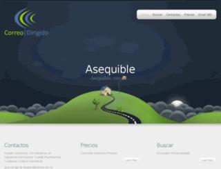 correodirigido.com screenshot