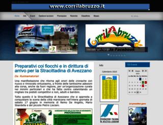 corrilabruzzo.it screenshot