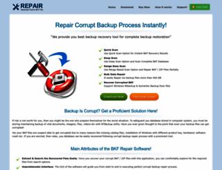 corruptbackuprepair.net screenshot
