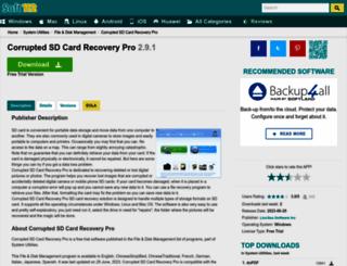 corrupted-sd-card-recovery-pro.soft112.com screenshot