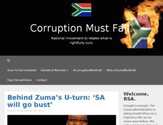 corruptionmustfall.co.za screenshot