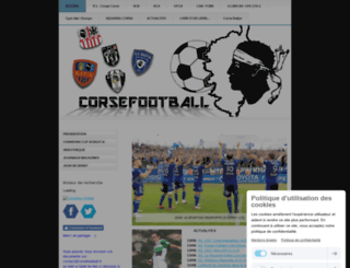 corsefootball.fr screenshot
