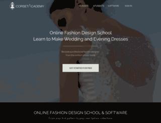 corsetacademy.net screenshot