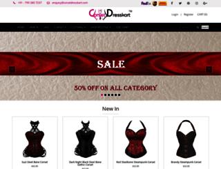 corsetdresskart.com screenshot