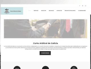 cortearbitralgalicia.org screenshot