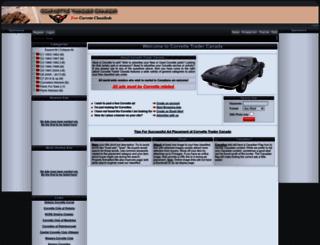 corvettetrader.ca screenshot