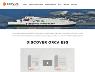 corvus-energy.com screenshot