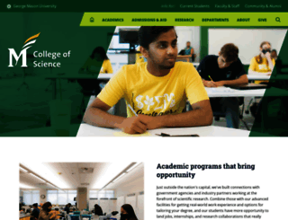 cos.gmu.edu screenshot