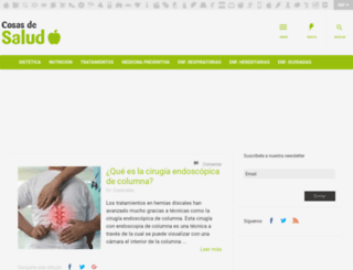 cosasdesalud.es screenshot