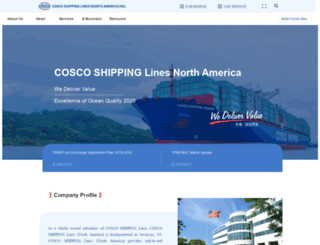 cosco-usa.com screenshot