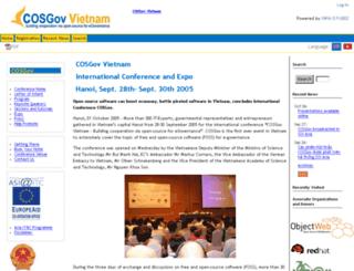 cosgov.objectweb.org screenshot