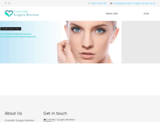cosmetic-surgery-reviews.co.uk screenshot