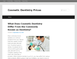 cosmeticdentistryprices.blog.com screenshot