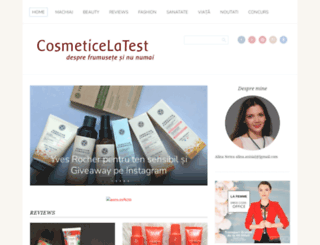 cosmeticelatest.blogspot.ro screenshot