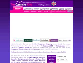 cosmeticsclub.co.uk screenshot