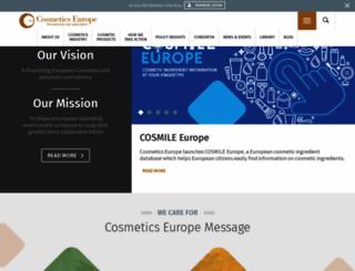 cosmeticseurope.eu screenshot