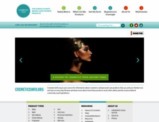 cosmeticsinfo.org screenshot