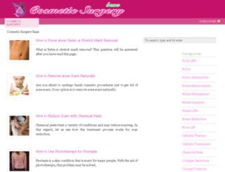 cosmeticsurgerybase.com screenshot