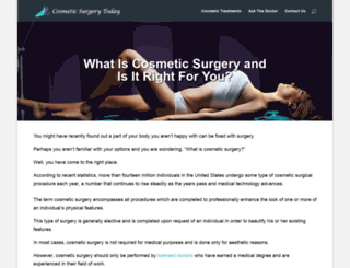 cosmeticsurgerytoday.com screenshot