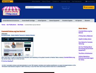 cosmetictattoo.org screenshot