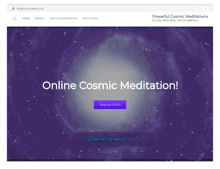 cosmicmeetup.com screenshot