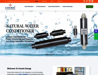 cosmicwater.in screenshot