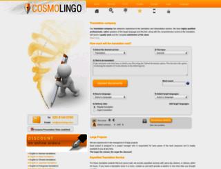 cosmolingo.com screenshot