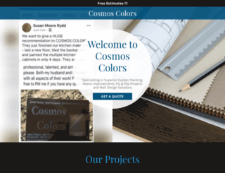 cosmoscolors.com screenshot