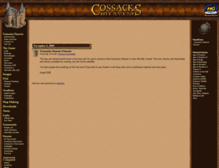 cossacks.heavengames.com screenshot