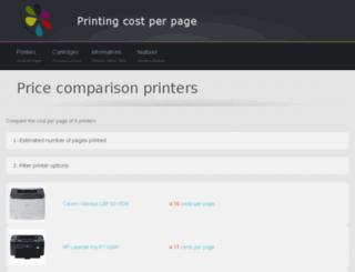 cost-per-page.co.uk screenshot