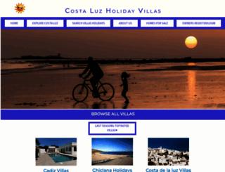 costa-luz-holiday-villas.com screenshot
