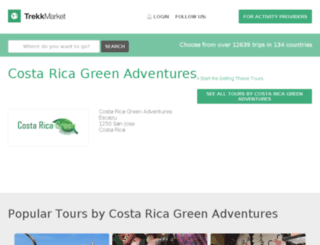costa-rica-green-adventures1.trekksoft.com screenshot