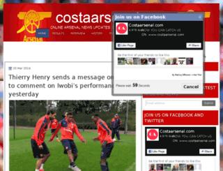 costaarsenal.blogspot.com screenshot