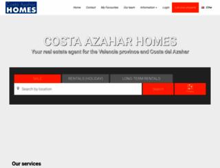 costaazaharhomes.com screenshot
