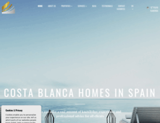 costablancahomesinspain.com screenshot