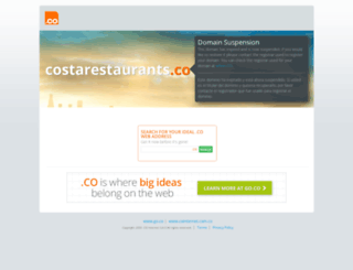 costarestaurants.co screenshot