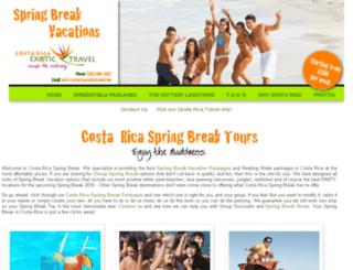 costarica-springbreak.com screenshot