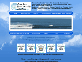 costaricasupadventures.com screenshot