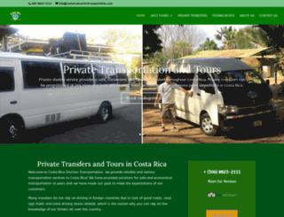 costaricatourismtransportation.com screenshot