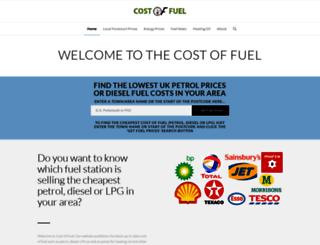 costoffuel.co.uk screenshot