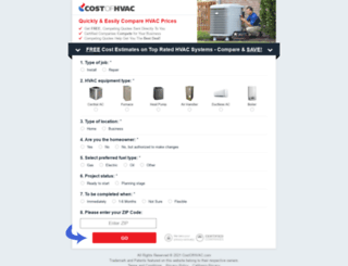 costofhvac.com screenshot