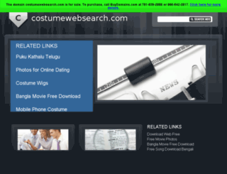 costumewebsearch.com screenshot