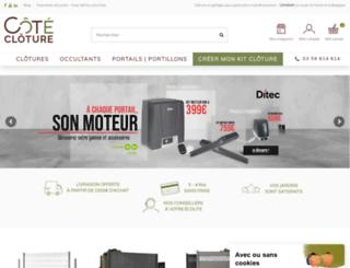cote-cloture.fr screenshot